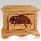 Heartland Deer Oak Cremation Urn