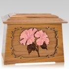 Hibiscus Oak Aristocrat Cremation Urn