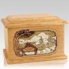 Infinitely Oak Memory Chest Cremation Urn