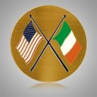 Irish American Flags Medallion Appliques