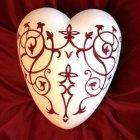 Lacework Ceramic Heart Urn