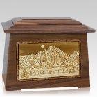 Longs Peak Walnut Aristocrat Cremation Urn