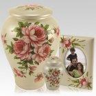 Love Roses Ceramic Urns