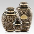 Midnight Ornate Cremation Urns