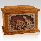 Moonlight Serenade Mahogany Memory Chest Cremation Urn