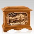 Moose Mahogany Cremation Urn