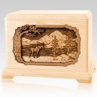 Moose Maple Cremation Urn for Two