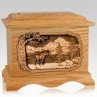 Moose Oak Cremation Urn