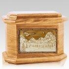 Mount Splendor Oak Octagon Cremation Urn