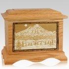 Mt Baker Oak Cremation Urn
