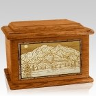 Mt McKinley Mahogany Memory Chest Cremation Urn