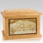 Mt McKinley Oak Memory Chest Cremation Urn