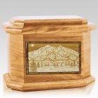 Mt McKinley Oak Octagon Cremation Urn