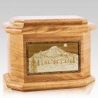 Mt Rainier Oak Octagon Cremation Urn
