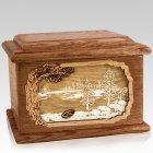 New Lake Walnut Memory Chest Cremation Urn