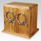 Oakwood Wreath Cremation Companion Urn