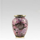 Pink Flowers Elite Keepsake Cloisonne Urn