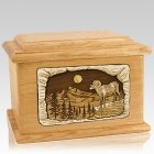 Ram Oak Memory Chest Cremation Urn