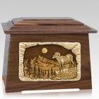 Ram Walnut Aristocrat Cremation Urn