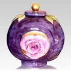 Raspberry Ceramic Cremation Urn