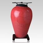 Raku Tall Red Cremation Urns