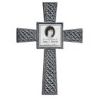 Silver Photo Celtic Memorial Cross