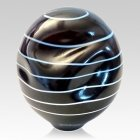 Spiral Organic Glass Cremation Urn