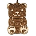 Teddy Bear 18k Gold Print Keepsake