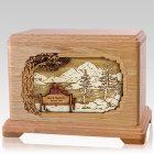 Together Always Oak Cremation Urn for Two