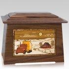 Trucker Walnut Aristocrat Cremation Urn