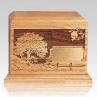 Road Home Wood Children Infant Cremation Urn