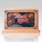Covered Bridge Wood Cremation Urns