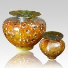 Milano Caramel Glass Cremation Urns