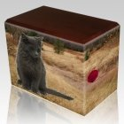 Hunting Ground Walnut Pet Picture Urn III