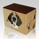 Sand Tracks Walnut Pet Picture Urn II