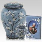 Winter Blossom Ceramic Urns