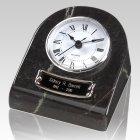 Marble Clock Black Keepsake Urn