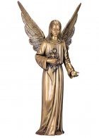 Angel with Flowers Bronze Statues