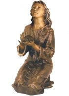 Dove to Heaven Bronze Statues