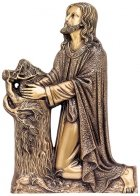 Kneeling Jesus Wall Bronze Statues