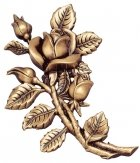 Love Roses Wall Bronze Statues