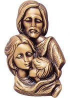 Family Wall Bronze Statues