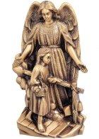 Angel De La Guarda Wall Bronze Statues