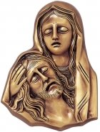Maria Holding Jesus Wall Bronze Statues
