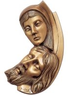 God In Us Wall Bronze Statues