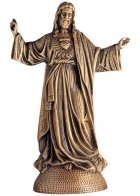 Lord in Prayer Wall Bronze Statues