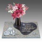 Cherished Memories Child Bronze Gravestone