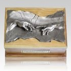 Close to God Cherry & Silver Cremation Urn