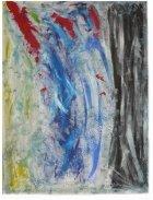 La Pina Cremation Ash Painting