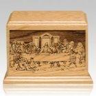 Last Supper Wood Cremation Urn